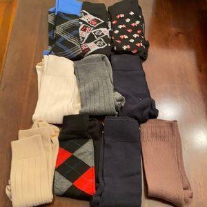 Lot of 10 pairs of dress socks